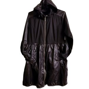 Bylyse Black Long Hooded Light Jacket